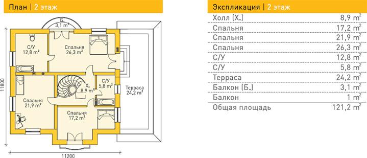 Дом из газобетона по проекту BERNDORF