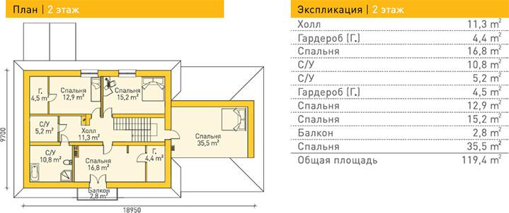 Дом из газобетона по проекту MEISSEN