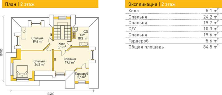 Дом из газобетона по проекту OBERHOF