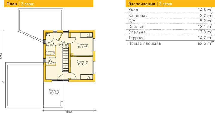 Дом из газобетона по проекту ESSEN