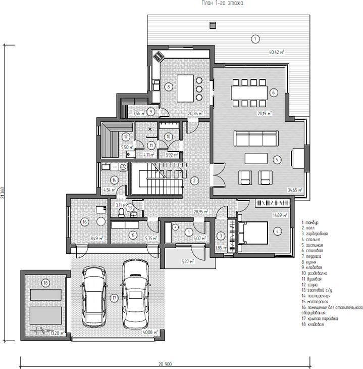 Дом из газобетона по проекту WEISSHAUS